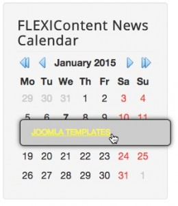 Module FLEXIContent News Calendar blue-arrows