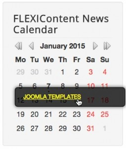 Module FLEXIContent News Calendar gray-arrows