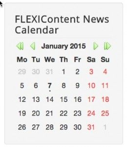 Module FLEXIContent News Calendar green-arrows