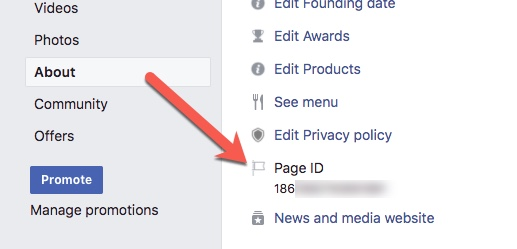how to find facebook page id